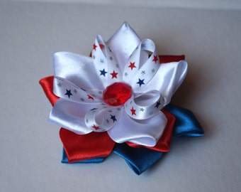 4th July Patriotic Hair Bow