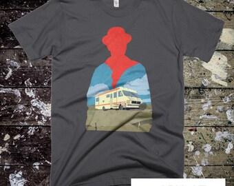 Walter White - Breaking Bad - Heisenberg - Dark Navy Mens T-shirt - Breaking Bad T-shirt - Walter White Dark Navy T-shirt