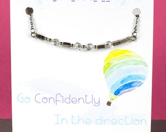 Dream Morse Code Necklace -Inspirational Necklace - Morse Code Necklace - Handmade Necklace with a Stainless Steel Chain