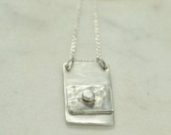 Calendula  *  Sterling Silver Handmade Artisan Hammered Necklace