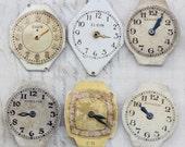 Vintage Watch Faces Hamilton Elgin Lot of 9 Pieces Diamond Unique Steampunk Supply US  1266