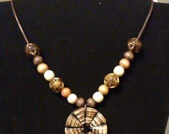 Beautiful necklace with shell pendant