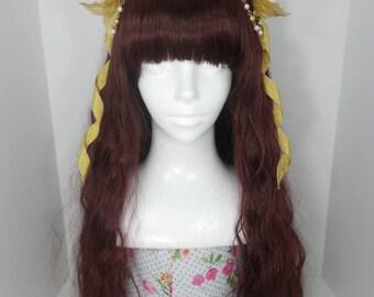 Ivory & gold flower headpiece