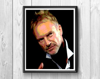 Sting, the famous American rock singer