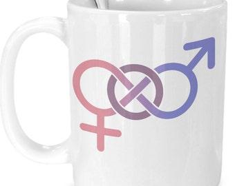 Gender Neutral, Non-Binary, Androgynous 15 oz White or Black Coffee Mug
