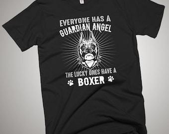 Boxer Guardian Angel T-Shirt Gift