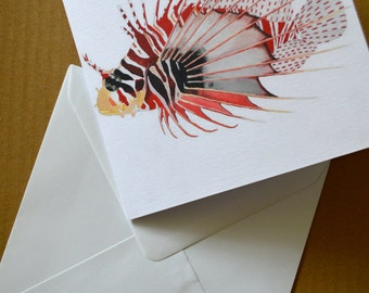 Greetings Card - Specimen Lionfish Illustration