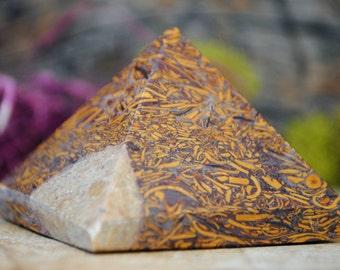 Calligraphy Stone Crystal Pyramid - 969.08
