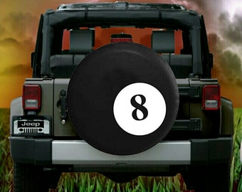 Eight Ball Pool Tire Cover
