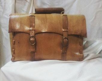 Handmade Brown  leather bag