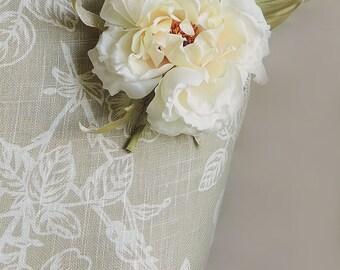 Ivory wedding flower, Ivory silk rose, bridal flowers, handmade silk flower, silk flower accessories, flower brooch, vanilla rose, hair clip