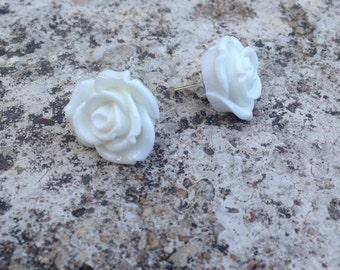 Ivory Rose Earrings