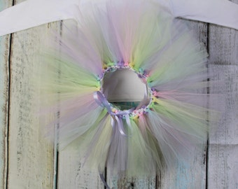 The Unicorn Tutu - Pastel Rainbow Tulle Tutu Baby Girls Photo Prop Shoot Christmas Birthday Gift