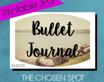 Bullet Journal Label, notebook label, bullet journal accessories, bujo sticker, lake rocks, water, printable label, canandaigua lake, nature