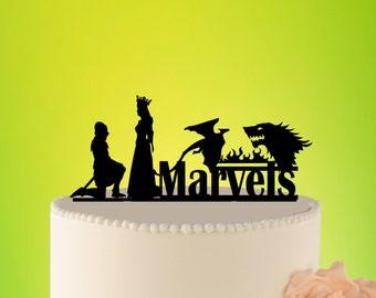 TARGARYEN STARK Wedding Cake Topper, Stark  Cake Topper, Targaryen wedding cake topper,Game of Throns Topper, Dragon Wedding Topper, Stark