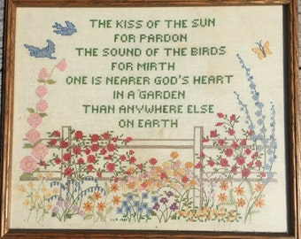 Cross Stitch Garden Verse