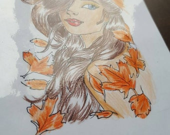Autumn girl for your planner :)