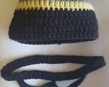Batman Crochet Hat and Mask Size 3-6 month