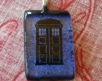 Doctor Who Glass Pendant