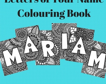 Letters of Your Name Colouring Book