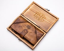 how to monogram leather clutch