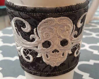 Gothic Skull Reversible Corset Cup Cozy