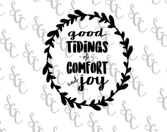Reusable Stencil - Christmas Design - Good Tidings - Many Sizes to Choose from!