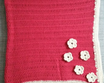 Baby Blanket with Floral Detail