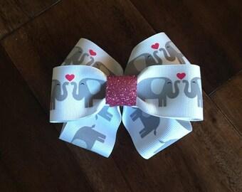 Baby girl elephant hair bow, hair bow, baby girl hair accessory