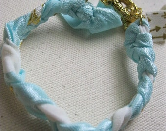 Beautiful Blue and White Braided Bracelet