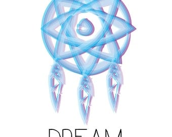 DREAM Catcher Art Print, Living Room Fine Art Print, Vertical Modern Art- DIGITAL COPY