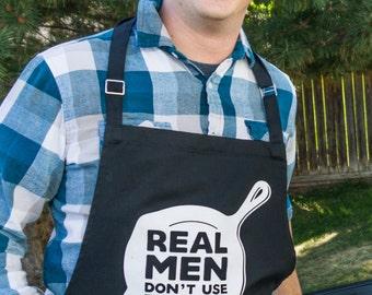 ApronMen Real Men Don't Use Recipes Apron