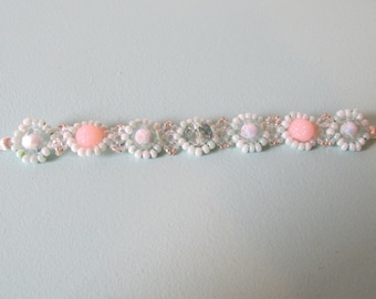 Mint & Sparkle Superduo Bracelet