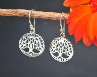 Tree of Life Earrings * Sterling Silver Earrings * Unique Earrings * Handmade Earrings * Everyday Earrings