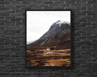 Mountain Hut Photo - Mountain House - Lonely House - Mountain Photo - Nature Photography - Vertical - Mountain Wall Art - Nature Wall Decor