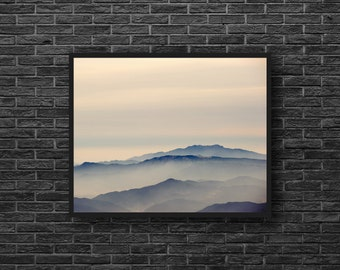 Mountain Photo - Misty Mountains - Landscape Photo - Mountain Landscape - Mountain Photo Print - Mountain Wall Art - Mountain Wall Decor