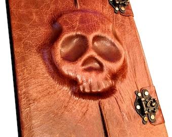 Handmade Skull Leather Artist Sketch Book
