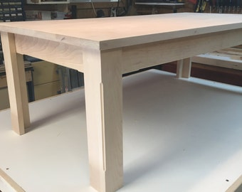 Table base 24 x 48 solid cherry undyed
