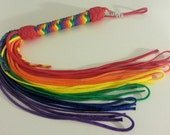Rainbow paracord Flogger custom made of the size you want - BDSM - S & M and kinky fetish play - gay pride flogger