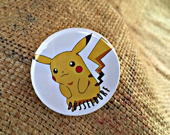 Pinback Button Badge, Badge, Button Badge, Limited, Pikachu, Pokemon