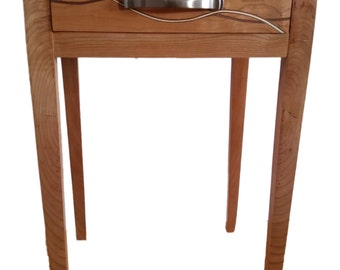 Cherry & Walnut Shaker Side Table