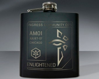 Ingress Chicago Enlightened Flask 01 - 6 oz. Flask