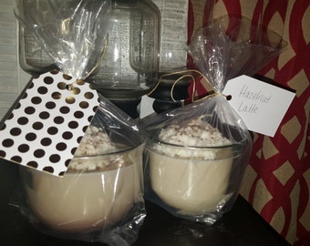 Hazel Nut scented latte Candles