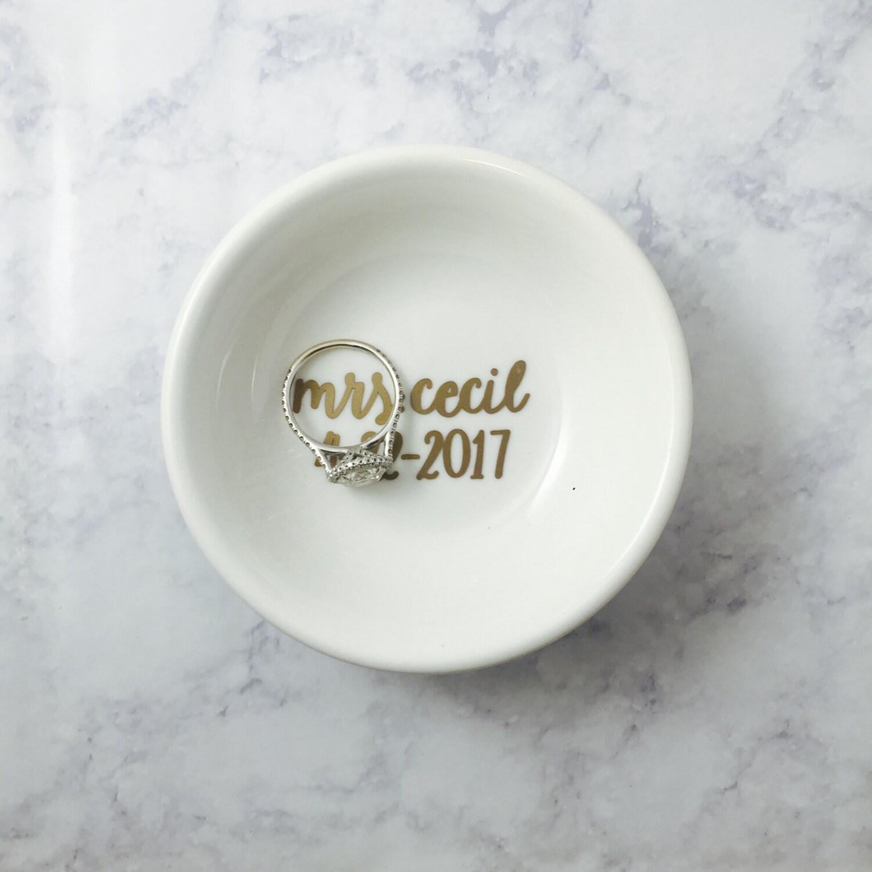 custom wedding ring dish ceramic engagement ring dish