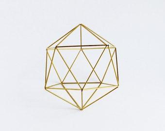 Geometric Sculpture, Himmeli Orb Hanging Mobile, Air Plant Holder, Sacred Geometry, Himmeli, Minimalist