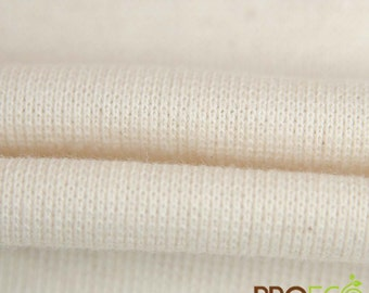 ProECO® Organic Cotton Rib Fabric (Natural, sold by the yard)