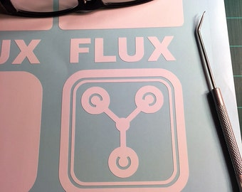 Flux Capacitor, Back To The Future. 6x6 inch Vinyl Decal