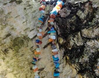 Necklace baroque multi-pierres