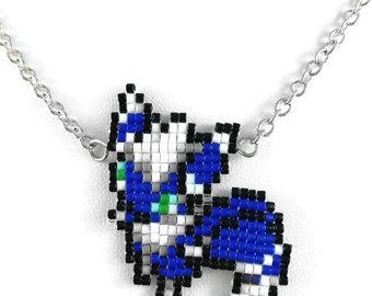 Meowstic Necklace - Pokemon Necklace Pokemon Jewelry Pixel Necklace Video Game Necklace 8bit Jewelry Geeky Gifts Anime Necklace