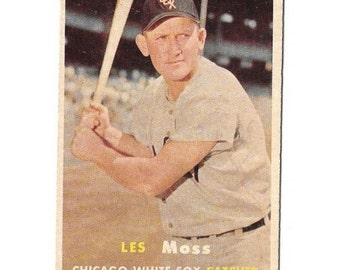 Vintage 1957 Topps #213 Les Moss Gd-Vg